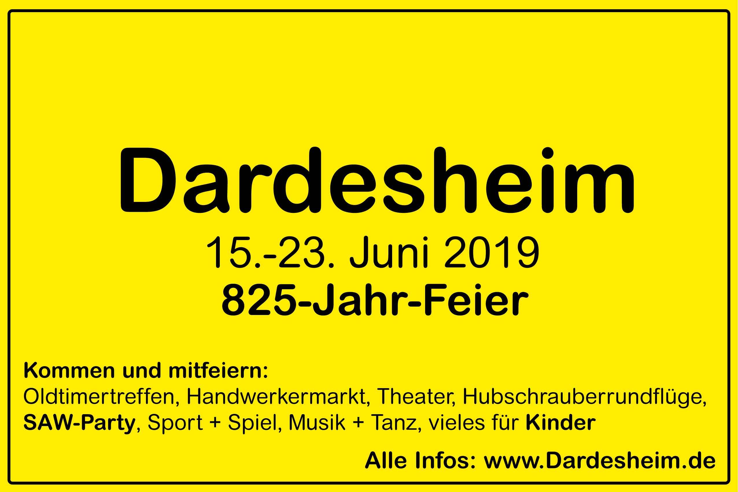 825-Jahr-Feier Dardesheim